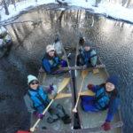 冬の釧路川源流カヌー